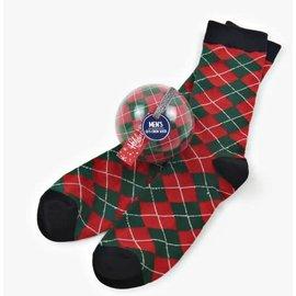 little BLUE HOUSE little BLUE HOUSE Socks in Balls Men's Holiday Argyle CLOSEOUT