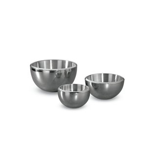 Heritage Steel/Hammer Stahl Hammer Stahl Stainless Steel Double-Wall Milano Bowls 3 pc Set CLOSEOUT