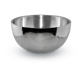 Heritage Steel/Hammer Stahl Hammer Stahl Stainless Steel Hammered Double Wall Bowl 4 Qt