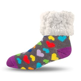 PUDUS PUDUS Classic Slipper Socks Heart Multi