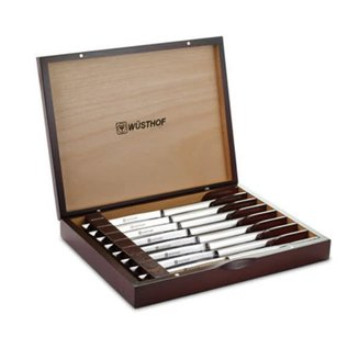 Wusthof Wusthof Stainless 8 piece Steak Knife Set in Rosewood-Colored Chest DISCONTINUED