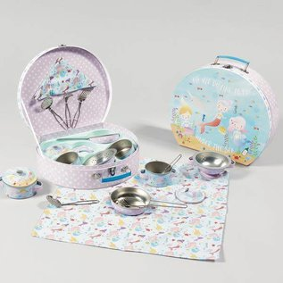 Floss & Rock Floss & Rock Mermaid 7pc Tin Tea Set in Case