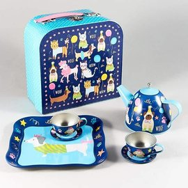 Floss & Rock Floss & Rock Pets 7pc Tin Tea Set in Case