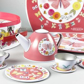 Floss & Rock Floss & Rock Butterflies 9pc Tin Tea Set in Round Case