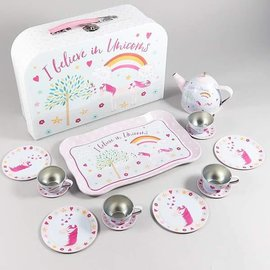 Floss & Rock Floss & Rock Fairy Unicorn 15pc Tin Tea Set in Case