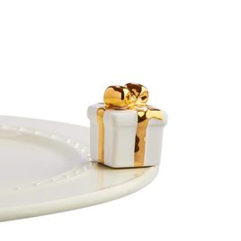 Nora Fleming Nora Fleming Mini Golden Wishes white and gold gift
