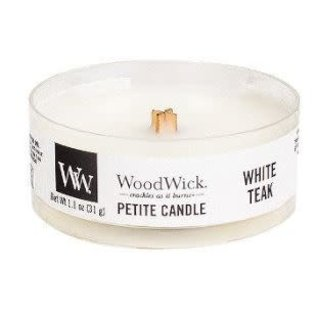 Virginia Gift Brands WoodWick Candle Petite White Teak
