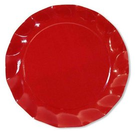 Sophistiplate Sophistiplate Petalo Charger Plates Red DISCONTINUED