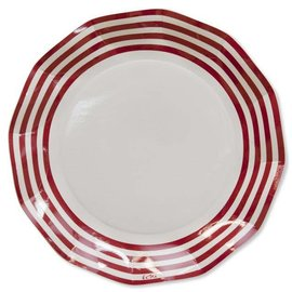 Sophistiplate Sophistiplate Petalo Atmosfera Dinner Plates Classic Red Pack of 8