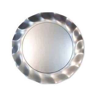 Sophistiplate Sophistiplate Petalo Dinner Plates Satin Silver