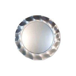 Sophistiplate Sophistiplate Petalo Salad Dessert Plates Satin Silver