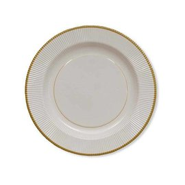 Sophistiplate Sophistiplate Righe Dinner Plates Classic Gold CLOSEOUT/ NO RETURN