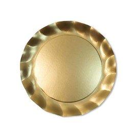 Sophistiplate Sophistiplate Petalo Dinner Plates Satin Gold