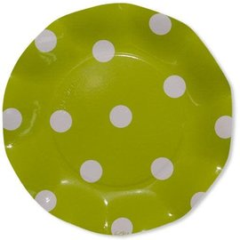 Sophistiplate Sophistiplate Petalo Atmosfera Salad Dessert Plates Pois Lime Green DISCONTINUED