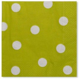 Sophistiplate Sophistiplate Napkins Pois Lime Green