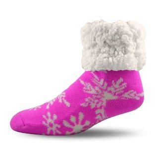 PUDUS PUDUS Classic Slipper Socks Snowflake Pink