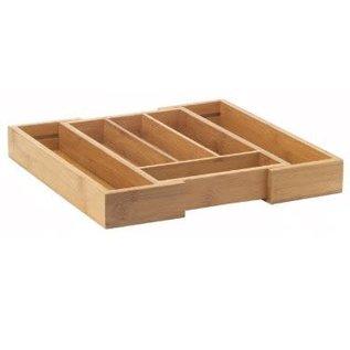Harold Import Company Inc. HIC Bamboo Expandable Cutlery Tray