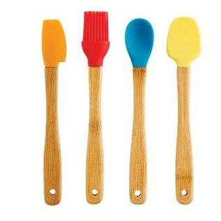 Harold Import Company Inc. HIC Bamboo & Silicone Mini Tool Set 4 pc