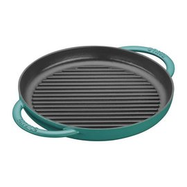Staub Staub Round Double Handle Pure Grill Pan 10 inch Turquoise