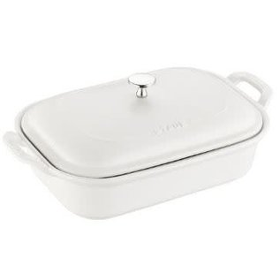 Staub Staub Ceramic Rectangular Covered Baking Dish 12 x 8 inch Matte White