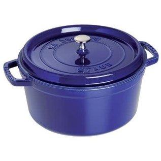 Staub Staub Round Cocotte 5.5qt Dark Blue