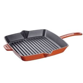 Staub Staub Cast Iron Square Grill Pan 10 inch Burnt Orange