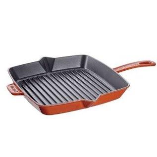 Staub Staub Cast Iron Square Grill Pan 10 inch Burnt Orange