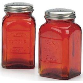 RSVP RSVP 'Retro' S&P Shakers Glass 8 oz Red