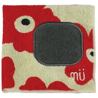 "MUkitchen MuKitchen MuCloth with Scrubber Red Poppy 12"" x 12"""