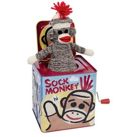 Schylling Schylling Sock Monkey Jack In The Box