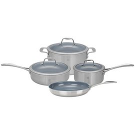 Zwilling J.A. Henckels ZWILLING Spirit 3-ply Stainless Steel Ceramic Nonstick 7 piece Set