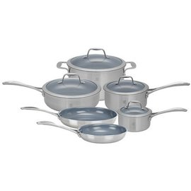 Zwilling J.A. Henckels ZWILLING Spirit 3-ply Stainless Steel Ceramic Nonstick 10 piece Set