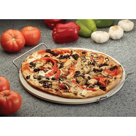 Harold Import Company Inc. HIC Pizza Baking Stone with Rack 13 inch