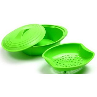 Norpro Norpro Silicone Steamer With Insert Green
