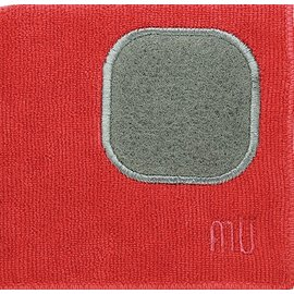 "MUkitchen MUkitchen MUcloth with Scrubber Crimson 12"" x 12"""