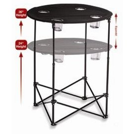 Oak & Olive (formerly Picnic Plus) Oak and Olive Scrimmage Tailgate Table Black CLOSEOUT