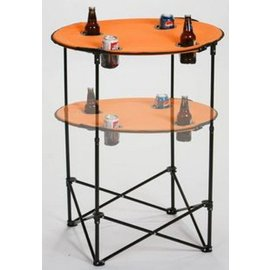 Oak & Olive (formerly Picnic Plus) Oak and Olive Scrimmage Tailgate Table Orange CLOSEOUT