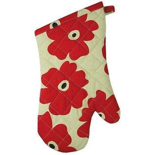 MUkitchen MUkitchen MUmitt Oven Mitt Red Poppy