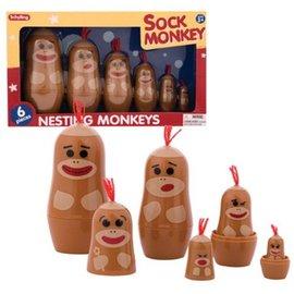 Schylling SCHYLLING Sock Monkey Nesting Monkeys