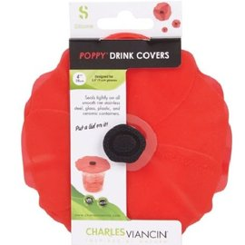 "Charles Viancin Charles Viancin Poppy 4"" Drink Covers Set of 2"