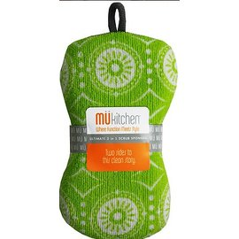 MUkitchen MuKitchen Double Duty Scrub Sponge Marrakesh Green