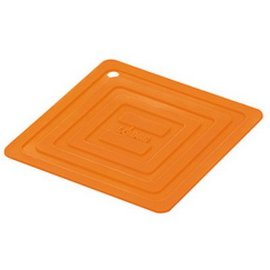 Lodge Cast Iron Lodge Silicone 6 inch Square Potholder Orange CLOSEOUT