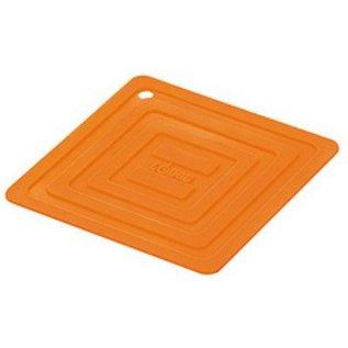 Lodge Cast Iron Lodge Silicone 6 inch Square Potholder Orange CLOSEOUT