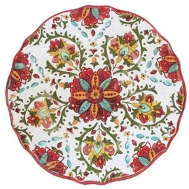 Le Cadeaux Le Cadeaux Allegra Red Dinner Plate 11 in.