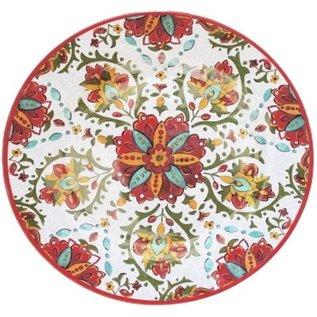 Le Cadeaux Le Cadeaux Allegra Red Family Style Platter 16 inch