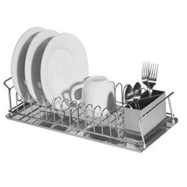 OGGI OGGI 13 Plate Dish Drain w Drip Tray + Utensil Holder