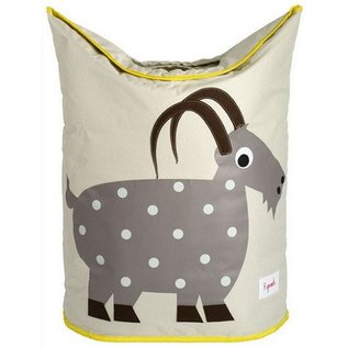 3 Sprouts 3 Sprouts Laundry Hamper Goat Grey