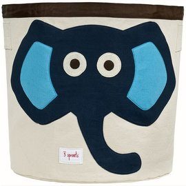 3 Sprouts 3 Sprouts Storage Bin Elephant - Blue
