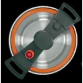Wisconsin Aluminum Wisconsin Aluminum Sizzle Pressure Cooker 4L orange DEMO