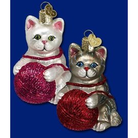 Old World Christmas OWC Playful Kitten CLOSEOUT
